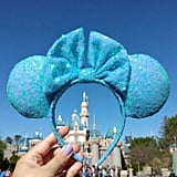 Baby Pale Blue Iridescent Sparkling Disney Ears ($30)