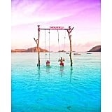 Swing in Tanjung Aan Beach in Indonesia