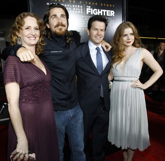 Pictures of Christian Bale, Mark Wahlberg, Amy Adams, and Melissa Leo at the LA Premiere of The Fighter