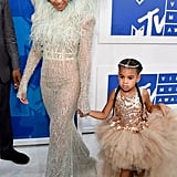 Blue looked like an angel when she arrived at the VMAs with Beyoncé in 2016. As per usual, Blue stole the show with her hilariously unimpressed expression while walking down the event's white carpet.