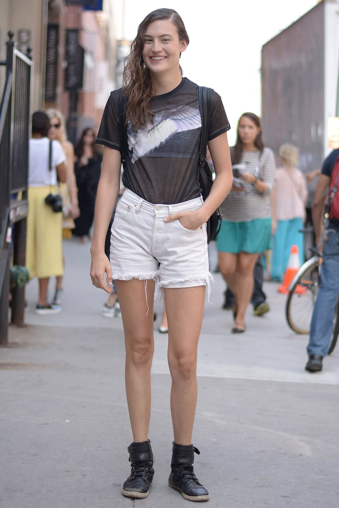 You can totally do casual at Fashion Week when it looks this cool.