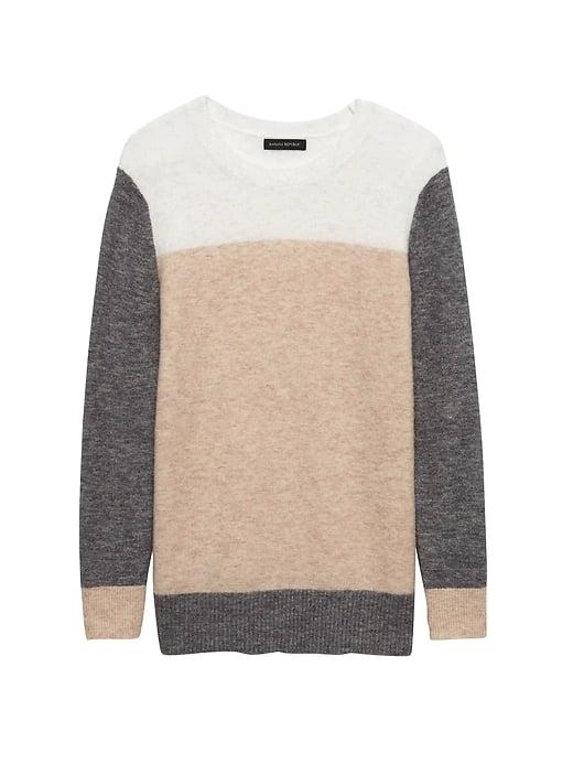Color-Block Crew-Neck Sweater