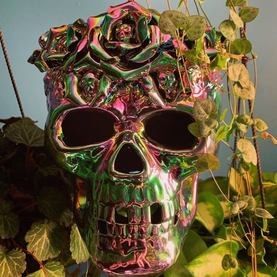 HomeGoods Iridescent Skull Candle Holders For Halloween