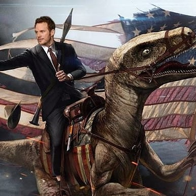 Chris Pratt Photoshopped on Facebook