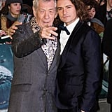 Sir Ian McKellen and Orlando Bloom attended the world premiere of The Hobbit: The Battle of the Five Armies in London.