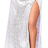 Daisy Corsets Silver Sequins Long Skirt With High Slit