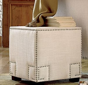 Steal of the Day: JCPenney Canvas Cube Ottoman