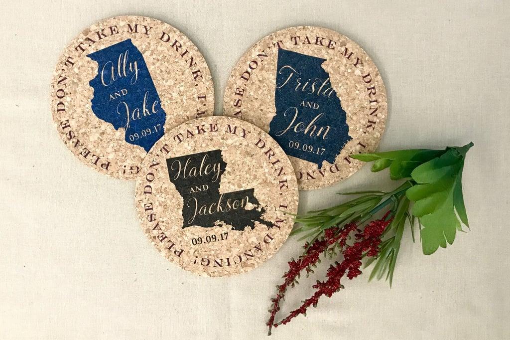 State Cork Coasters