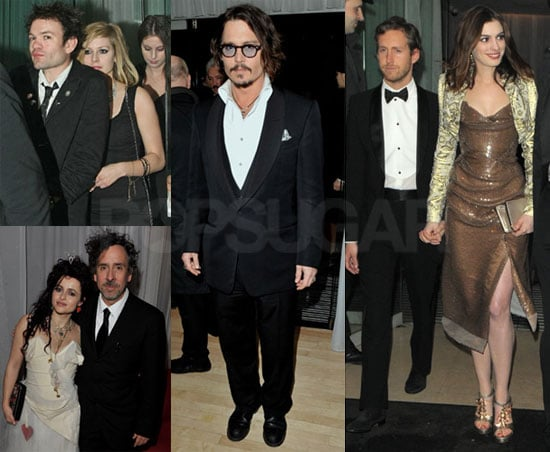 Photos of Johnny Depp and Anne Hathaway at the Alice in Wonderland Afterparty With Avril Lavigne and Deryck Whibley
