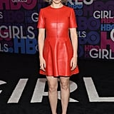 While Zosia Mamet Stood Out in Fire-Engine Red