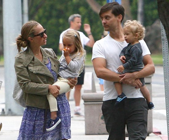Picture Slide of Tobey, Otis, Ruby Maguire and Jennifer Meyer in LA
