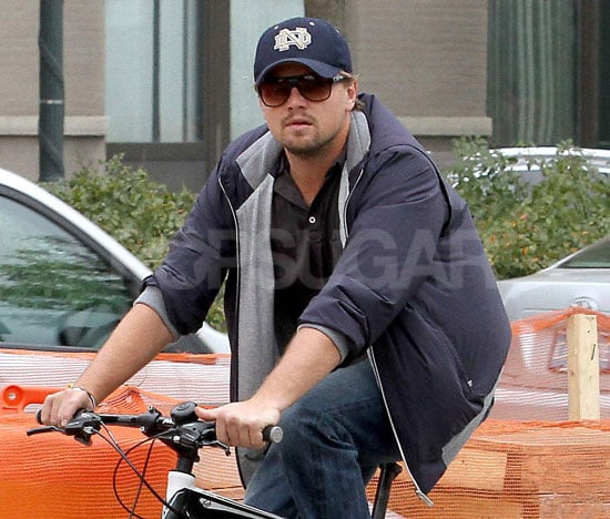 Pictures of Leonardo DiCaprio Riding Bikes With His Mom Through NYC