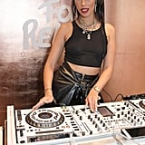 DJ Snoochie Shy at the Fashion For Relief Charity Pop-Up Store