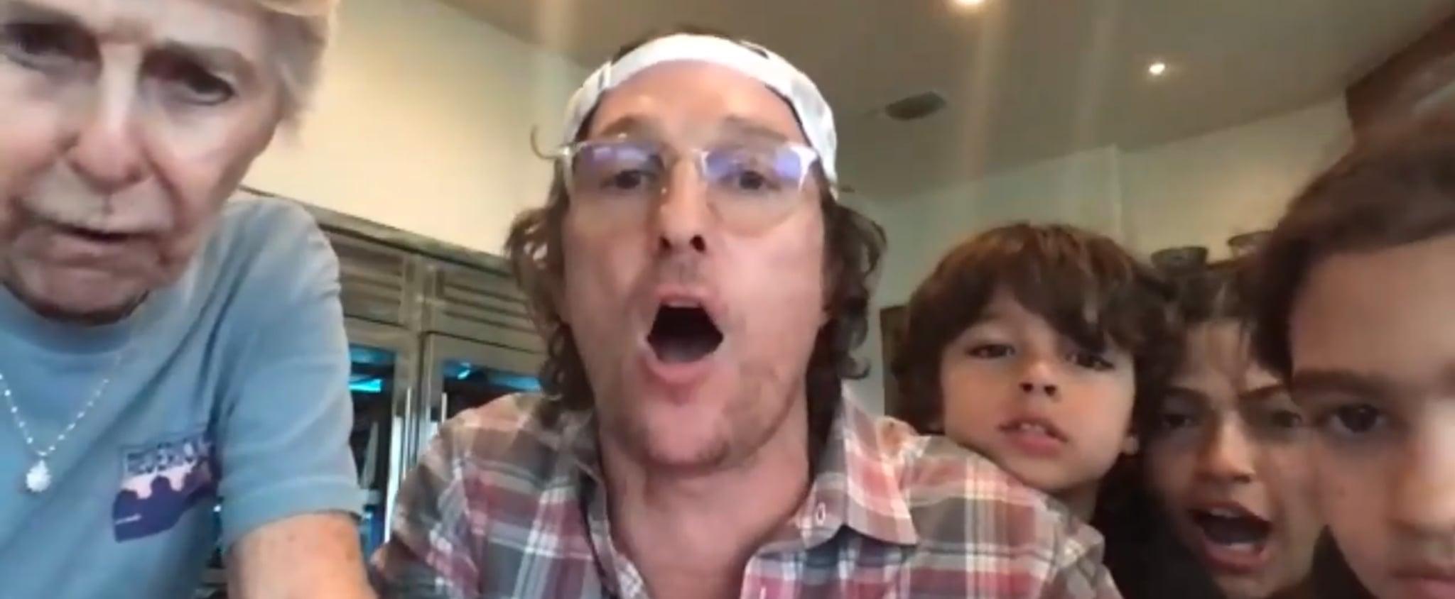 Matthew McConaughey Plays Bingo With a Senior Care Home