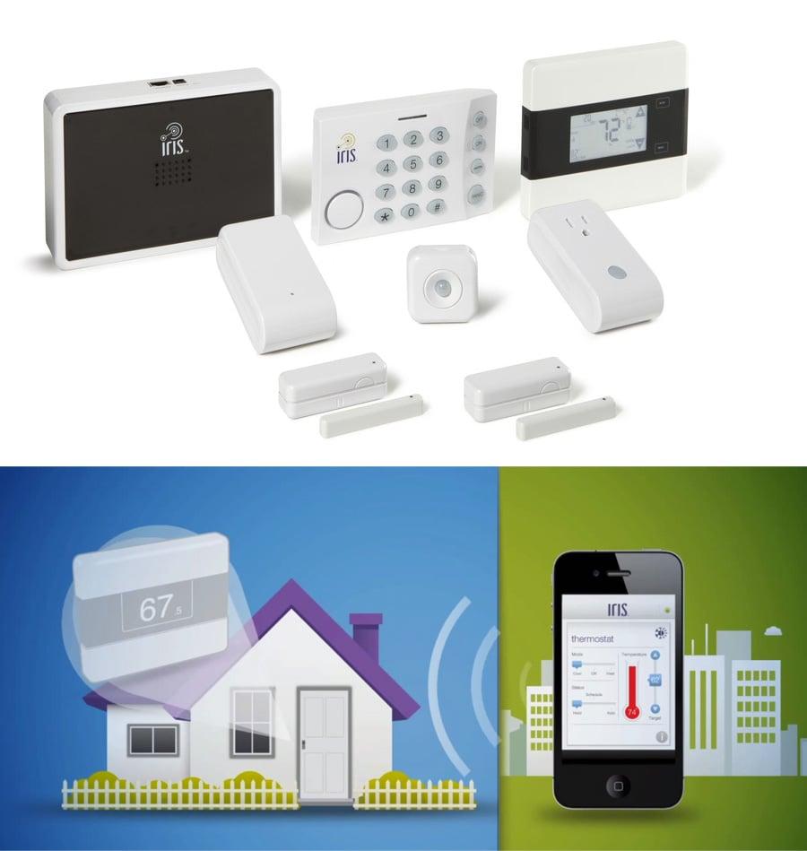 iris smart home kit favorite gadget gifts 2014. Black Bedroom Furniture Sets. Home Design Ideas