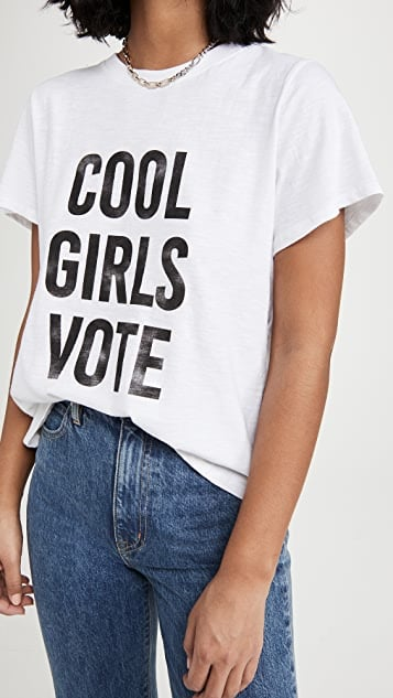 Cinq a Sept Cool Girls Vote Tee