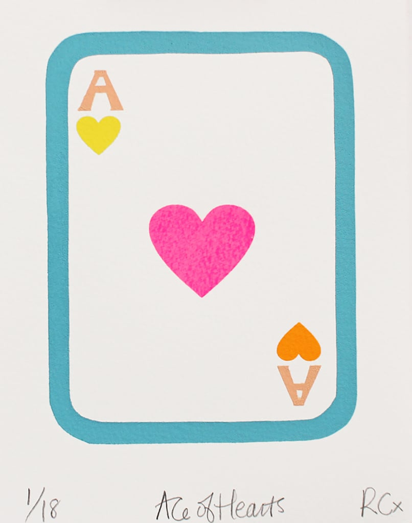 Rachel Castle Ace of Hearts Screen Print ($170)