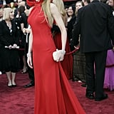 Nicole wearing Balenciaga at the Oscars in 2007.