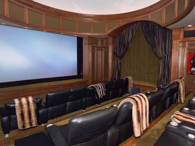 There's no need to go to the movies when there's a private 20-seat theater right in the home.
