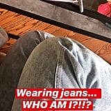 Demi Lovato's Instagram About Getting Dressed in Jeans