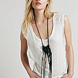 Free People Sun and Glory Gold Fire Macrame Necklace