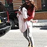 Katie Holmes with Suri Cruise in NYC.