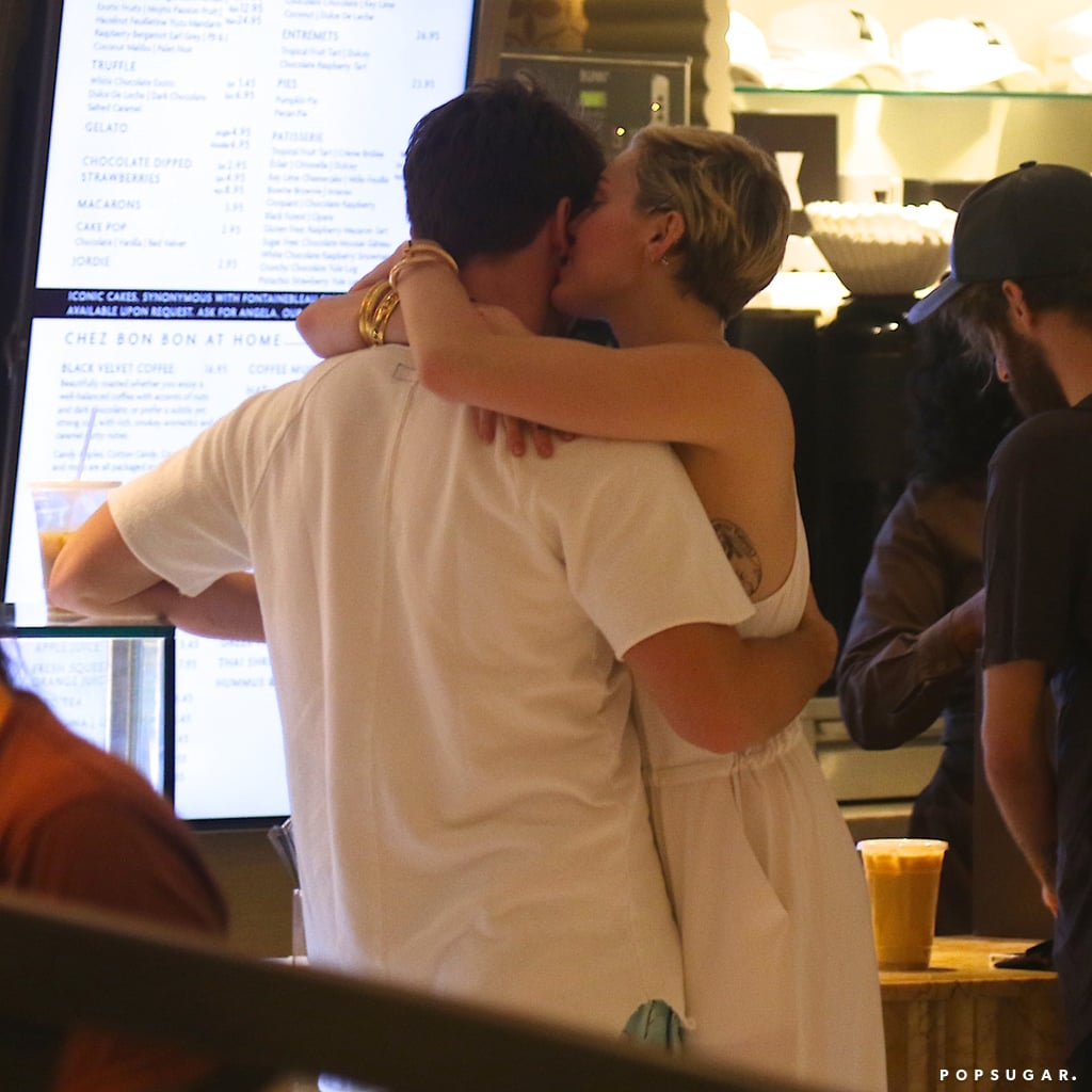 Miley Cyrus and Patrick Schwarzenegger didn't slow down during Miami's Art Basel last week. Miley and Patrick kicked off the festivities poolside, indulging in an alfresco meal with pals, including Cody Simpson, at the Fontainebleau hotel. After the sun went down, the new couple stopped by Haute Living and Hublot's Time Is Beautiful event at a private estate, where they mingled with partygoers and hit the dance floor. The night was far from over, though, since they reportedly returned to E11EVEN, a cabaret and nightclub they've frequented during their stay in South Florida. It was at that club on Thursday night that Miley was reportedly seen making out with Paris Hilton. That wasn't even the beginning of the excitement since Miley donned pasties for a night of partying on Wednesday, and the following afternoon, she emerged in a revealing bikini.