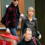 When he carried Taylor's cat bag for her.