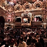 The Salle Garnier of the Opéra was positively transformed for the opulent soiree.