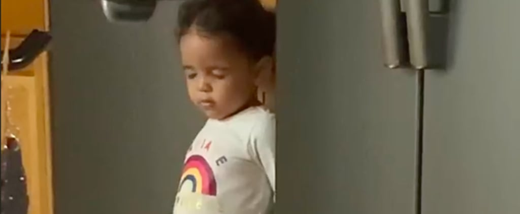 Video of Toddler Pretending to Sleep While Sneaking Snacks