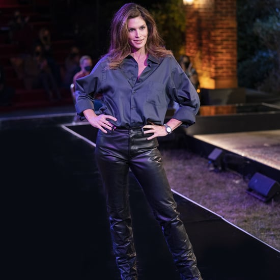 Cindy Crawford Wears Ross Leather Trouser at Friends Reunion