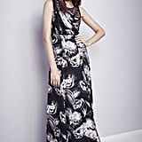 We love that Nonoo paired this black-and-white printed floral gown with casual loafers — genius juxtaposition.