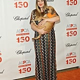 Drew Barrymore and Kate Middleton in Tory Burch Gown