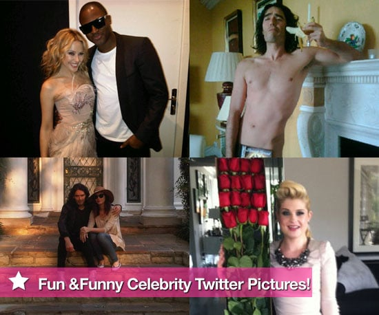 Pictures From Celebrity Twitter Accounts Including Russell Brand, Katy Perry, Dannii Minogue, Kylie Minogue, Kelly Osbourne