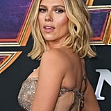 Scarlett Johansson Silver Dress at Avengers Endgame Premiere