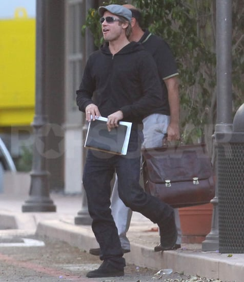 Pictures of Brad Pitt Leaving a Meeting in LA