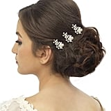 Anusha Trudy Crystal And Pearl Hair Pin