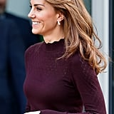 Kate Middleton's Long Curtain Fringe, 2019