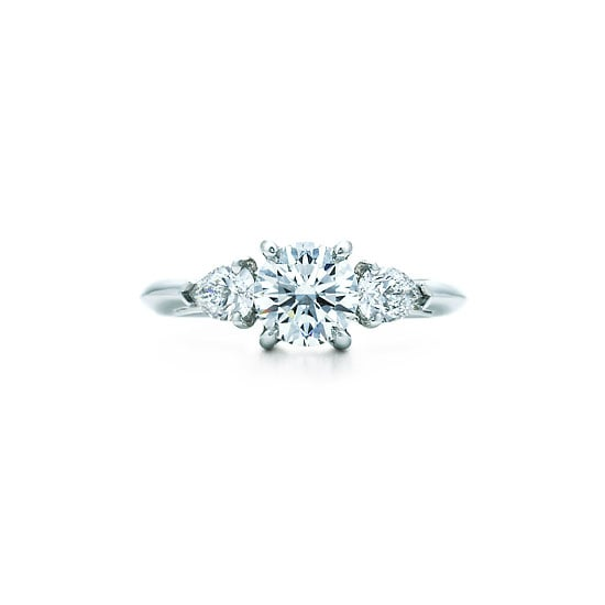 Solitaire and pear cut diamond ring, from $17,200, Tiffany & Co
