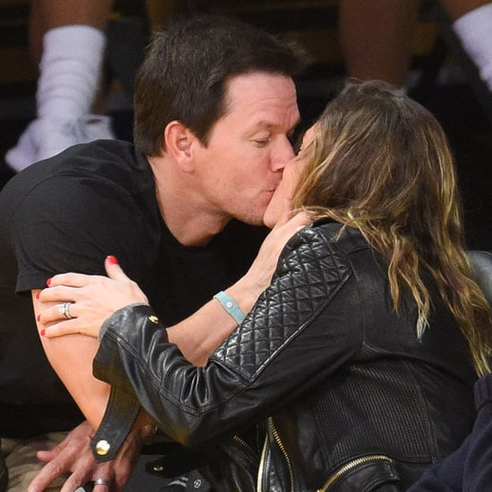 Mark Wahlberg With Wife and Daughter at Lakers Game 2015