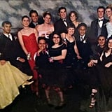 """I'm the one in the back row wearing a navy dress. I kept it pretty neutral."" — Kelly Schwarze"