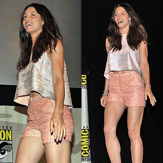 Jessica Biel in Christian Cota at 2011 Comic-Con Pictures