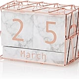 George Home Marble and Copper Calendar Block