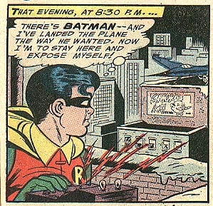 I think Robin has an arrest for indecent exposure coming up!