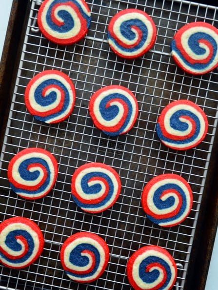 Bake These: Red, White, and Blue Pinwheel Icebox Cookies