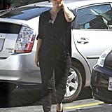 Pregnant Drew Barrymore was out in LA.