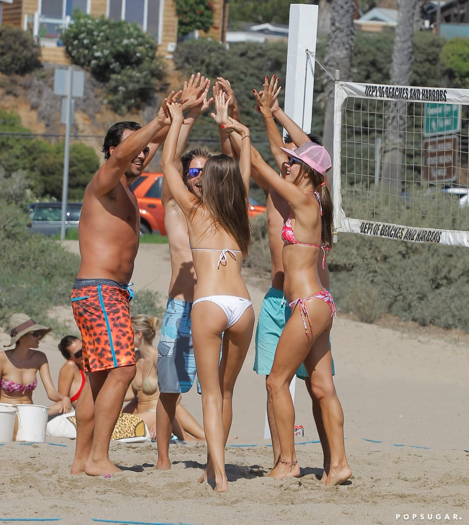 Alessandra Ambrosio teamed up with her friends in Malibu.