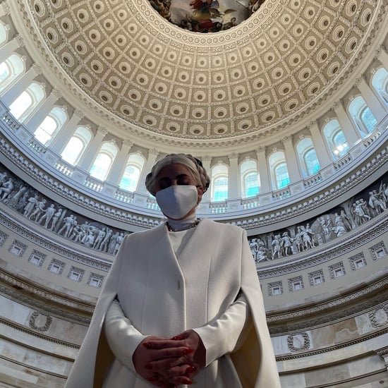 The Meaning of Lady Gaga's White Cape Coat at Capitol Hill