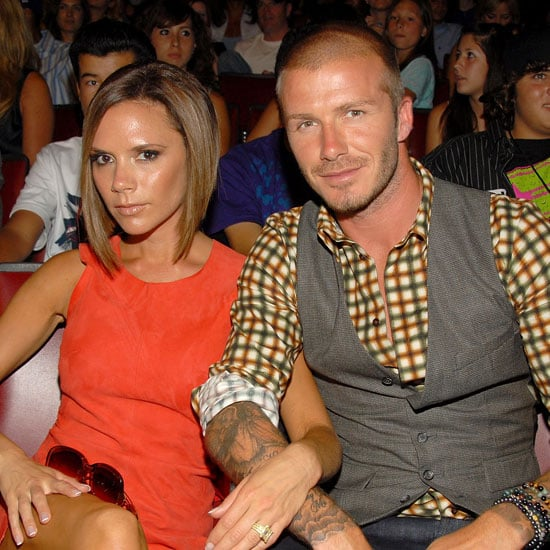 Photo of Victoria Beckham and David Beckham at the 2008 Teen Choice Awards