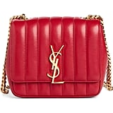 Saint Laurent Small Vicky Quilted Lambskin Leather Crossbody Bag